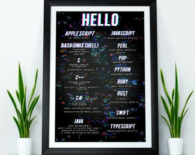 Hello World! Computer Science Poster