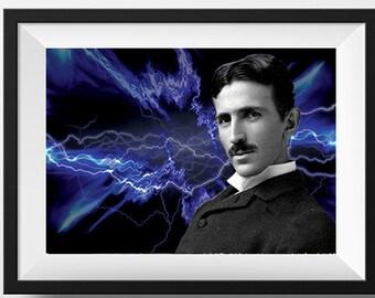 Nikola Tesla Scientist Portrait Poster