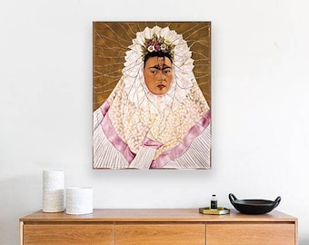 Diego on My Mind (Frida Kahlo Self-Portrait as Tehuana - 1943) Masterpiece Reproduction Printed in Refined Aluminum