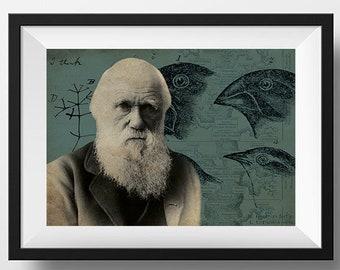 Charles Darwin Scientist Portrait Poster