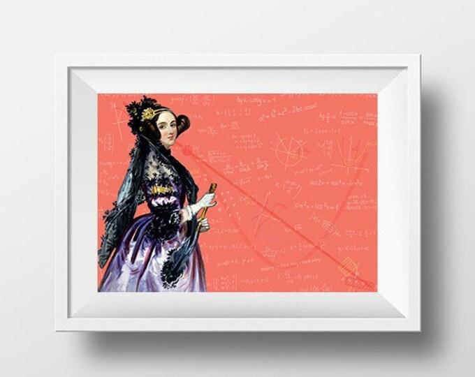 Ada Lovelace Scientist Portrait Poster