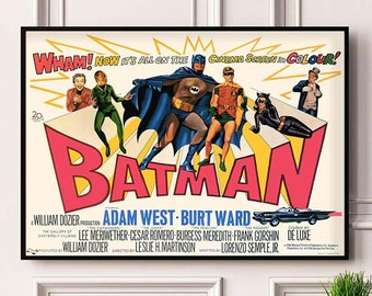Vintage Japanese Batman Movie Poster A3//A4 Print
