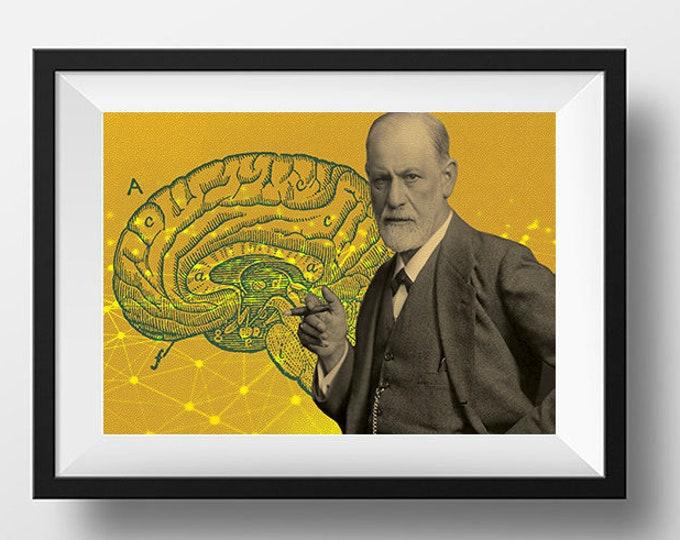 Sigmund Freud Scientist Portrait Poster
