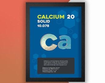 Calcium Element Poster Wall Decor