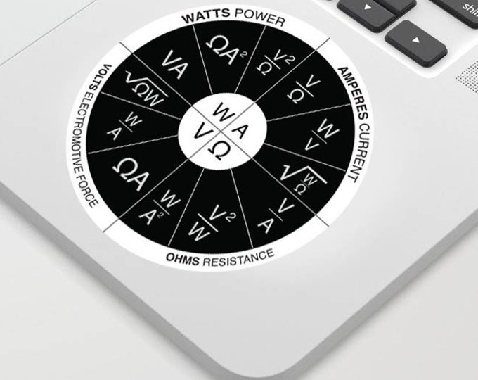Ohm's Law wheel sticker