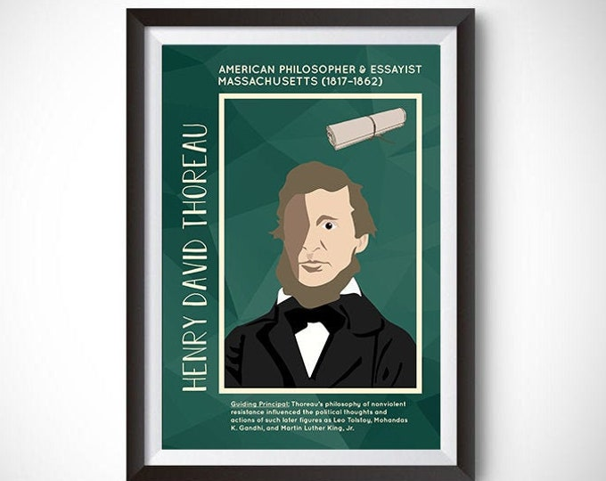 Henry David Thoreau Poster Wall Decor