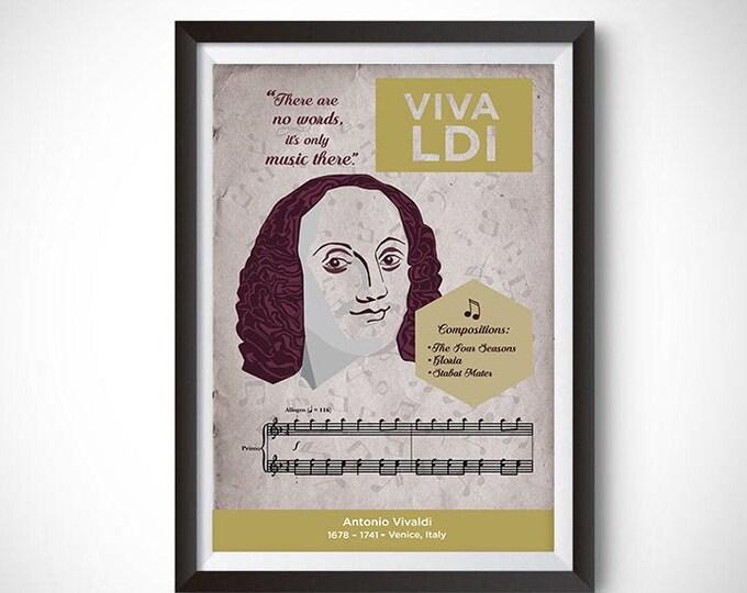 Antonio Vivaldi: Classical Composer Poster Wall Art