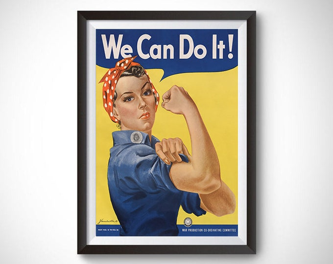 We Can Do It! (Rosie the Riveter) Vintage Propaganda Poster