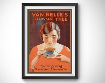 Van Nelle Afternoon Tea Vintage Ad Poster #2