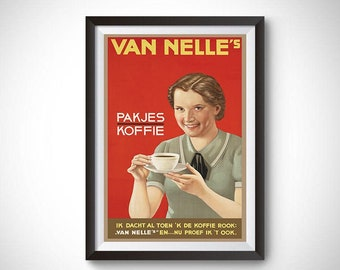 Van Nelle Afternoon Tea Vintage Ad Poster