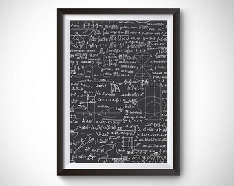Physics Equations Poster