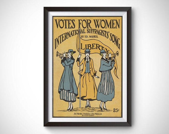Votes for Women: International Suffragists' Song Vintage Poster (1916)