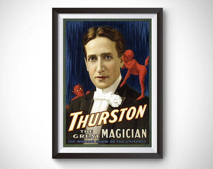 Thurston the Great Magician (1914) Vintage Ad Poster