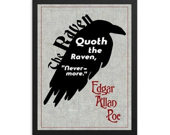 The Raven by Edgar Allan Poe Poem/Book Poster
