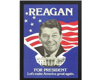 Ronald Reagan Campaign Vintage Ad Poster (1980)