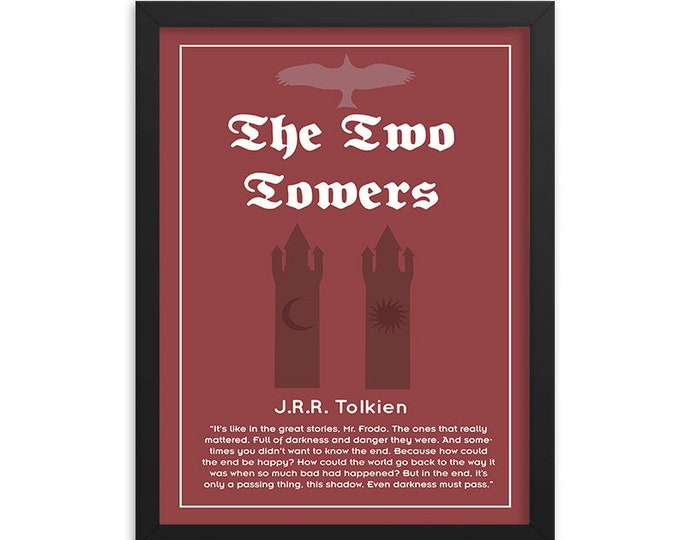 The Two Towers by J.R.R. Tolkien Book Poster