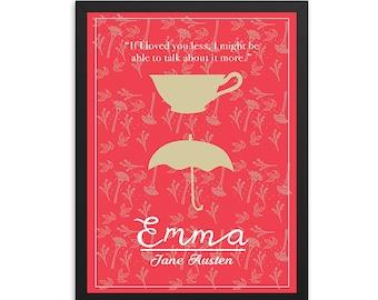 Emma by Jane Austen Book Poster