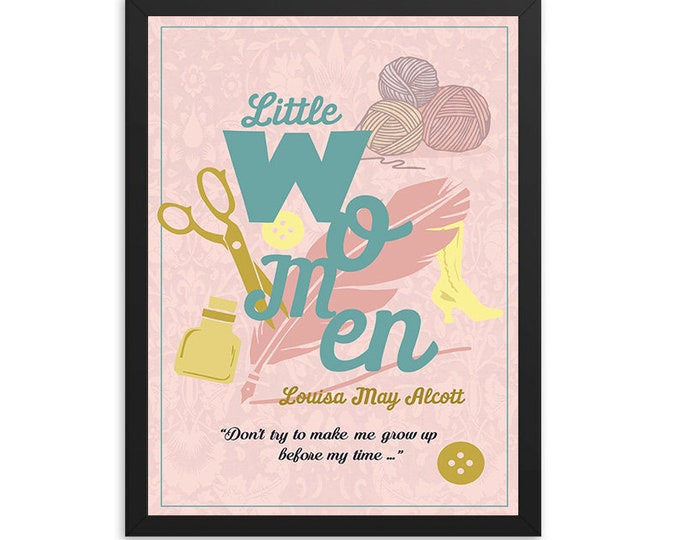 Little Women by Louisa May Alcott Book Poster