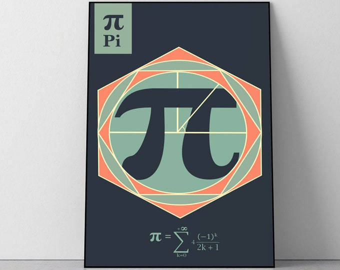 "Infinite series ""Pi ""Math Geometry Concept Poster"