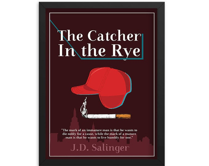 The Catcher in the Rye by J.D. Salinger Book Poster