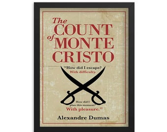 The Count of Monte Cristo by Alexandre Dumas Book Poster