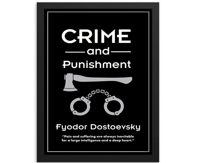 Crime & Punishment by Fyodor Dostoevsky Book Poster