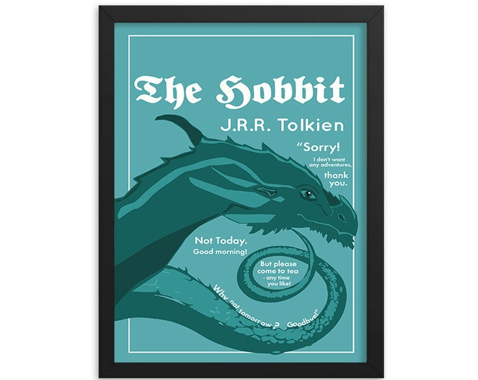 The Hobbit by J.R.R. Tolkien Book Poster