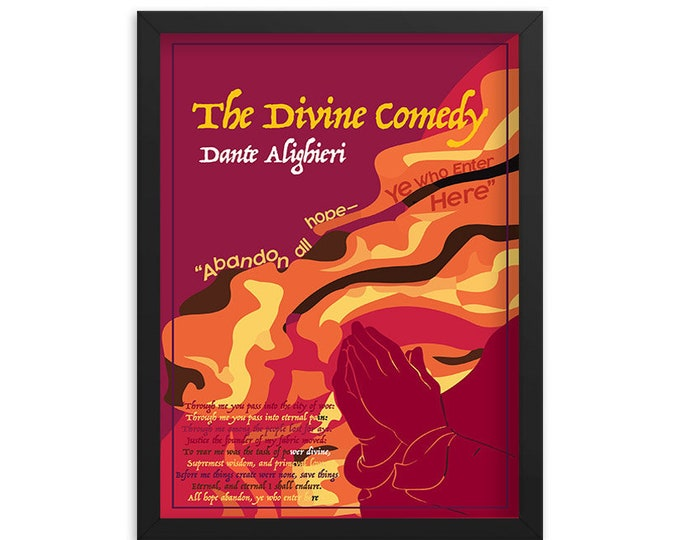 The Divine Comedy by Dante Alighieri Book Poster