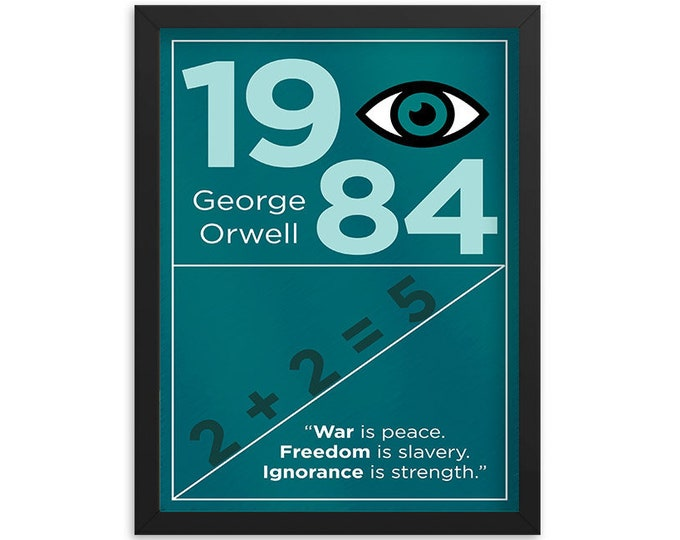 George Orwell's 1984 Book Poster