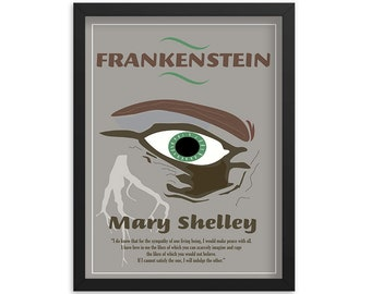 Frankenstein by Mary Shelley Book Poster