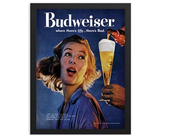 Budweiser Beer Vintage Ad Poster