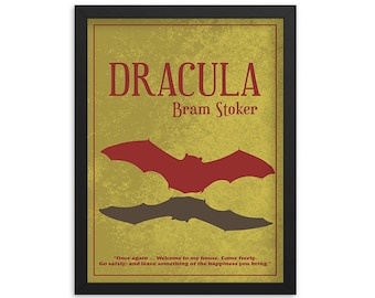 Dracula By Bram Stoker Book Poster