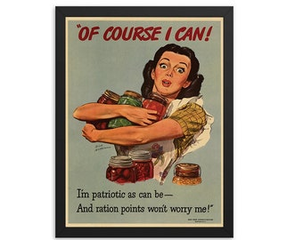 WWII Rationing Poster Vintage Ad Poster (1980)