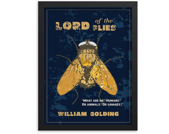 Lord of the Flies by William Golding Book Poster