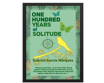 One Hundred Years of Solitude by Gabriel García Márquez Book Poster