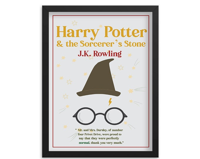 Harry Potter & the Sorcerer's Stone by J.K. Rowling Book Poster