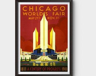 Chicago World's Fair, 1933 Vintage Ad Poster