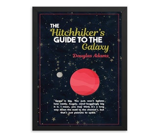 The Hitchhiker's Guide to the Galaxy by Douglas Adams Book Poster