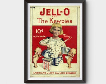 Jell-O and the Kewpies (1915) Vintage Ad Poster