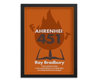 Fahrenheit 451 by Ray Bradbury Book Poster