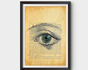 Vintage Eye, A Clockwork Orange Inspired Art Poster