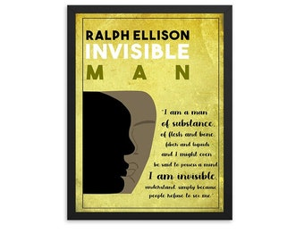 Invisible Man by Ralph Ellison  Book Poster