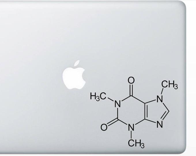 Caffeine Molecule Decal for computer, wall or bumper sticker