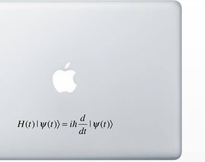 Schrodinger Equation decal for wall computer or bumper sticker