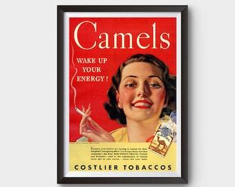 Camels Tobacco Vintage Ad Poster