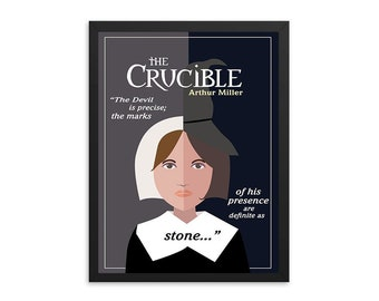 The Crucible by Arthur Miller Book/Play Poster