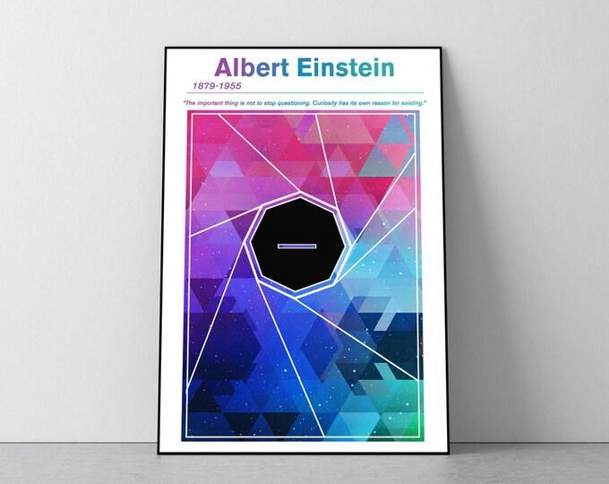 Albert Einstein Minimalist Concept Poster