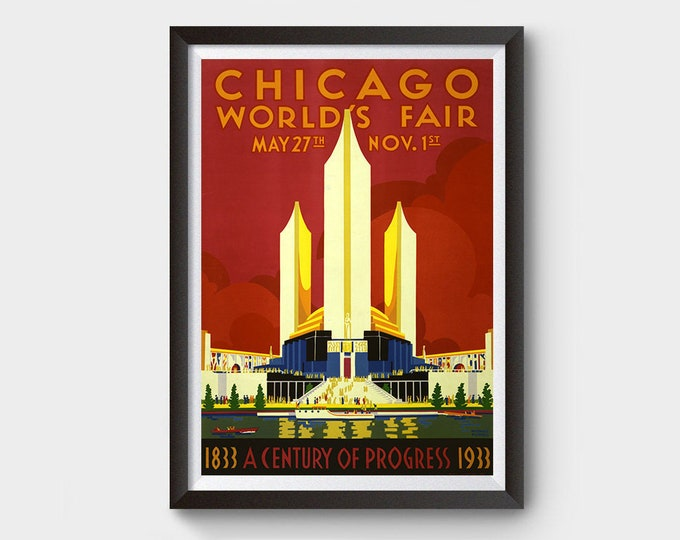 Chicago World's Fair (1933) Vintage Ad Poster
