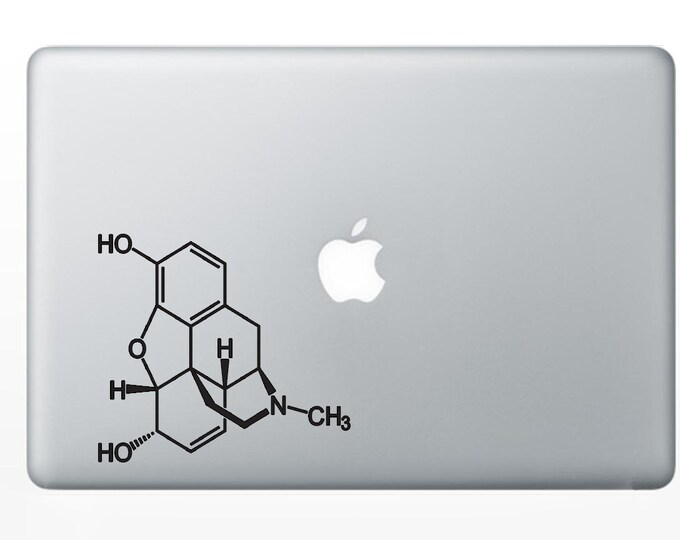 Morphine  Molecule Decal for computer , wall or bumper sticker