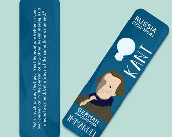 Immanuel Kant Indestructible  Bookmark